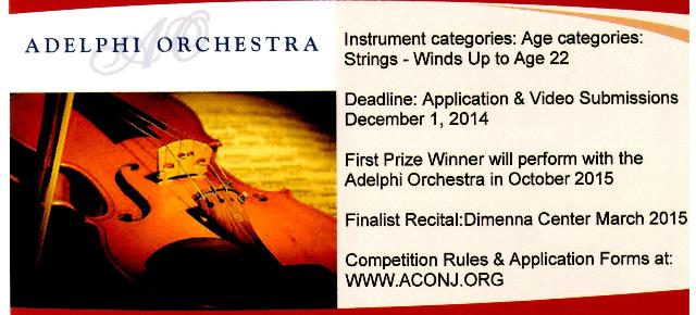 Young Artist Competition 2014-15 video deadline Dec1