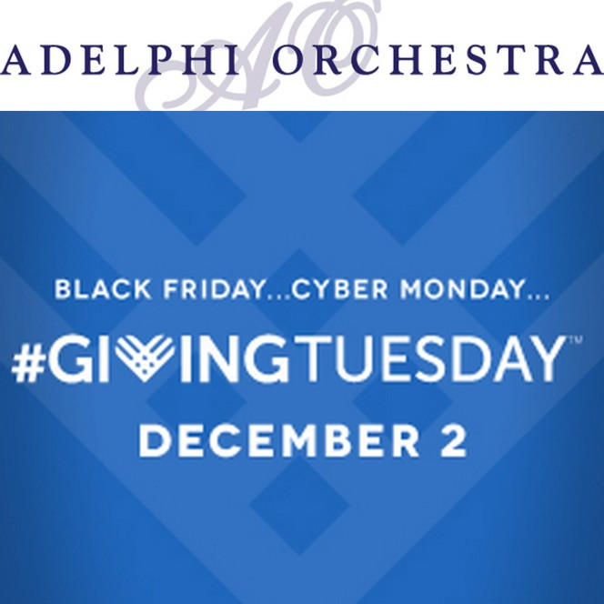 Reminder #Giving Tuesday- Adelphi Orchestra is tomorrow Dec 2nd